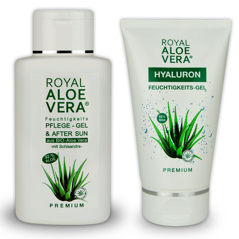 royal aloe vera hyaluron pflege gel und after sun schisandra set royal aloe vera royal living. Black Bedroom Furniture Sets. Home Design Ideas
